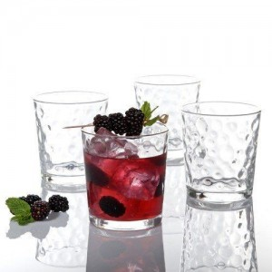 Bibson 4 piece Glass Embossed Tumbler Set