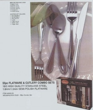 Gibson Home 55-Piece Flatware