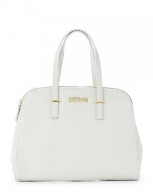 Kenneth Cole Reaction Arbol Dome White Satchel