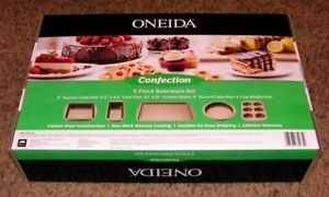 Oneida Confection 5 Piece Bakeware Set
