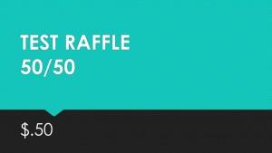 Test 50/50 Raffle $0.50