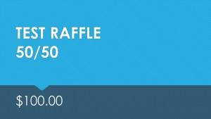 Test 50/50 Raffle $100
