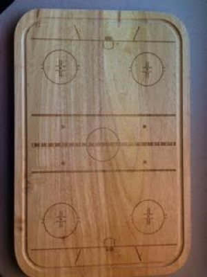 Wooden sports serving tray
